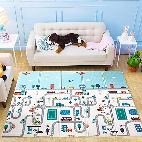 Baby-Spielmatte Faltbare Baby-Spielmatte Extra große Schaumstoff-Matte Wende-Baby-Krabbelmatte, ungiftig...