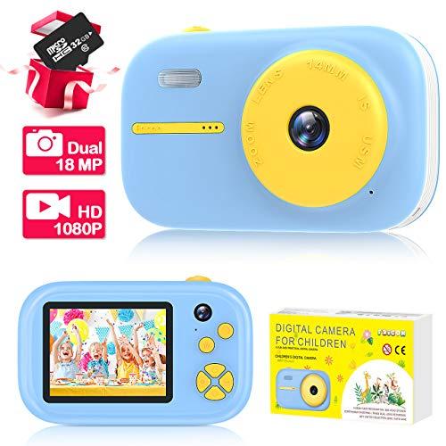 EUTOYZ Kinder Kamera ab 3-12, Geschenke für Jungen ab 3-12 Jahre Kamera Kinder Spielzeug für 5 6 7 8...
