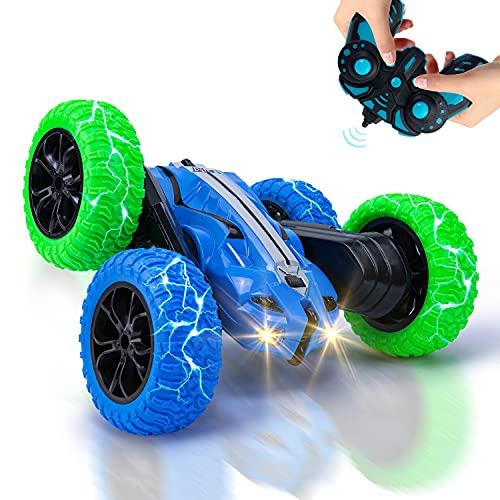 Vubkkty RC Ferngesteuertes Stunt Auto für Kinder, 4WD RC Car Spielzeug mit 2 Akkus, 2,4 GHz...
