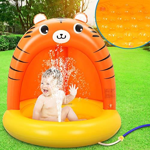 LETOMY Aufblasbares Planschbecken, Splash Baby Pool Mit Sonnenschutz, Splash Kinderzelt Schwimmbecken,...