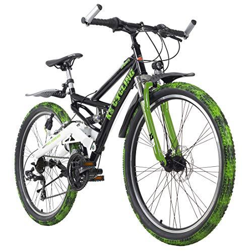 KS Cycling Mountainbike Fully ATB 26'' Crusher schwarz-grün RH 46 cm