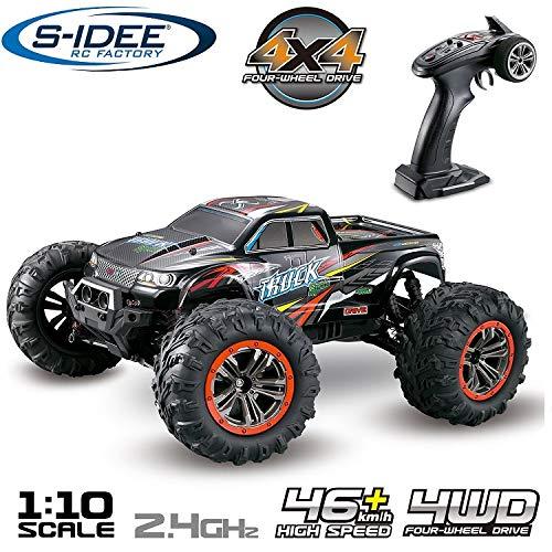 s-idee® 18173 9125 RC Auto 1:10 4WD Buggy wasserdichter Monstertruck mit 2,4 GHz ca. 50 kmh schnell,...