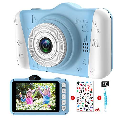 Kinderkamera - Digitalkamera Kinder mit 3,5-Zoll-Großbildschirm 1080P HD 12MP Eingebaute 32GB SD-Karte...