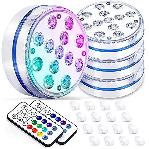 BOZHZO Poolbeleuchtung Unterwasser Licht, Pool Beleuchtungen Unterwasser Led mit Magnet, RGB 13...