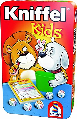 Schmidt Spiele 51245 Kniffel Kids BMM Metalldose