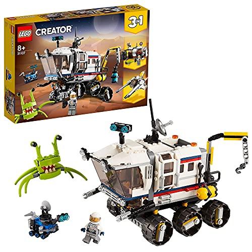 LEGO 31107 Creator 3in1 Planeten Erkundungs-Rover, Raumschiff mit Roboter, Astronauten und Alien Figur,...