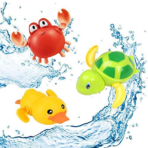 SeWooo 3 Pack Baby Badespielzeug,Wasserspielzeug Kinder Bandewanne,Baby Bade Bad Schwimmen Badewanne...