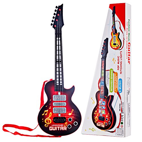 e-Gitarre, Foxom 4 Saiten e-Gitarre Kinder Musikinstrument Pädagogisches Spielzeug Gitarre Geschenk für...