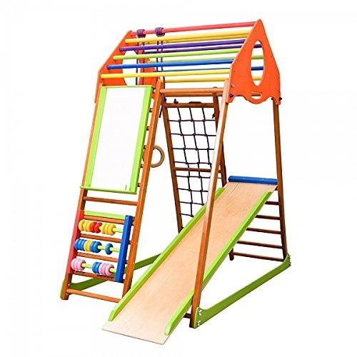 Kinder Aktivitätsspielzeug Kletterturm mit Rutsche ˝Kindwood-Plus˝ Spielcenter Spielplatz
