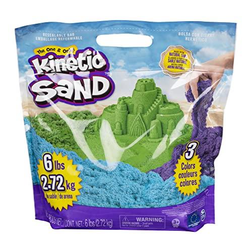 Kinetic Sand 2,7 kg original Kinetic Sand in 3 Farben für Indoor-Sandspiel [Exklusiv bei Amazon]