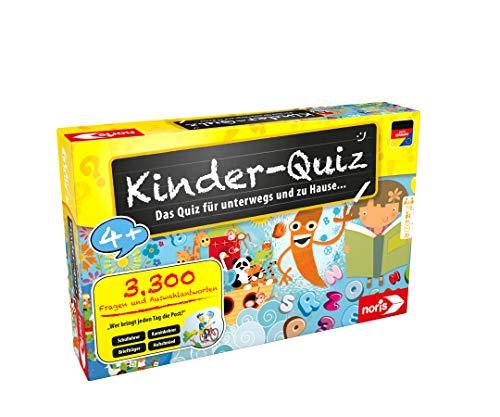 Noris 606013595 Kinder-Quiz, der Familen-Spielspaß für Zuhause oder unterwegs, für 1-6 Spieler ab 4...