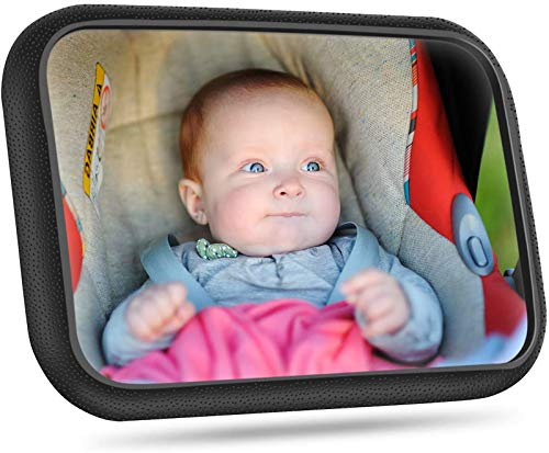 Rücksitzspiegel für Babys, Bruchsicherer Auto-Rückspiegel für Babyschale,360° schwenkbar,...