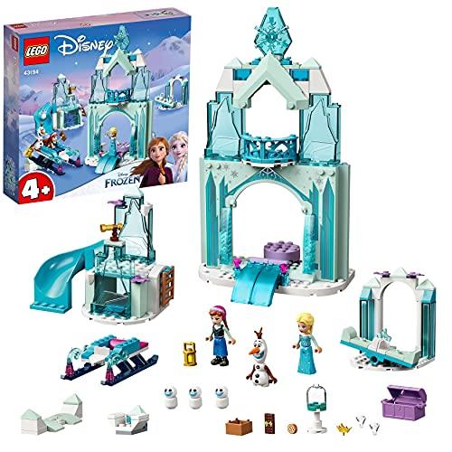 LEGO 43194 Disney Princess Annas und Elsas Wintermärchen, Eiskönigin Spielzeug zum Bauen mit Schloss...