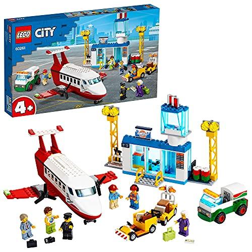 LEGO 60261 City 4 Flughafen, Spielset mit Flugzeug Spielzeug, Tanklaster und Pilotfigur