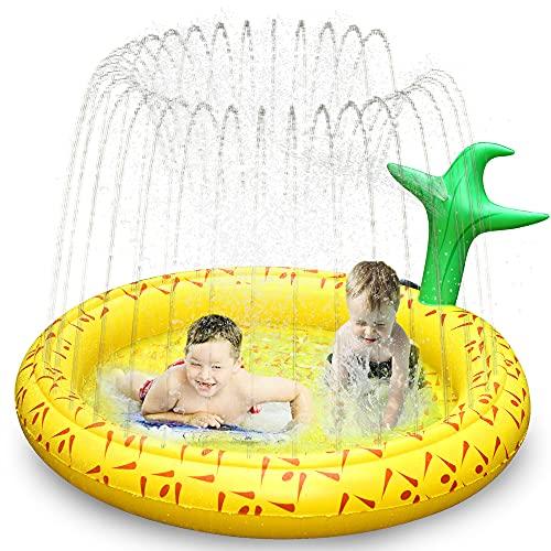 Ancesfun Splash Pad, 67 ' Kinder Sprinkler Play Matte, Spielmatte Wasserspielzeug Pool Baby Pad für...