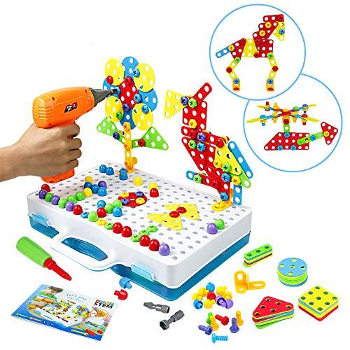Symiu Mosaik Steckspiel Schraube Spielzeug - 3D Puzzle Kinderspielzeug ab 3 4 5 6 Jahre Alt...