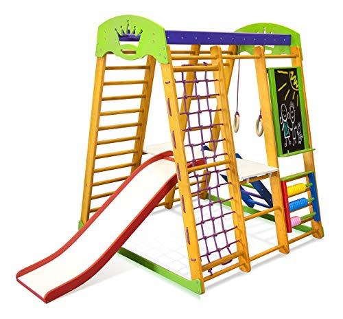 Kids Home Holz-Spielplatz mit Rodel Karapuz-Plus-7,6 cm, schwedische Leiter, Kinder, Baby,...