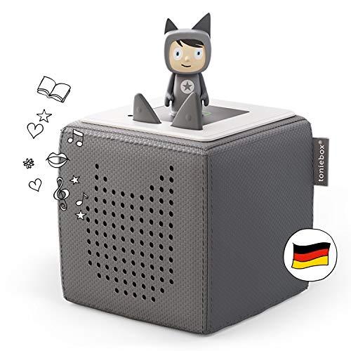 Toniebox Starterset anthrazit grau: Toniebox + Kreativ-Tonie - Der Tragebare Lautsprecher für Tonies...