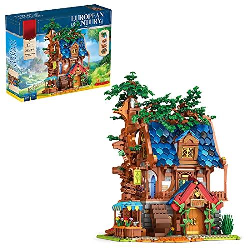 Bulokeliner Modular Architektur Modell Street View Baumhaus Architektur Modell mit Licht, 2450 Teile...