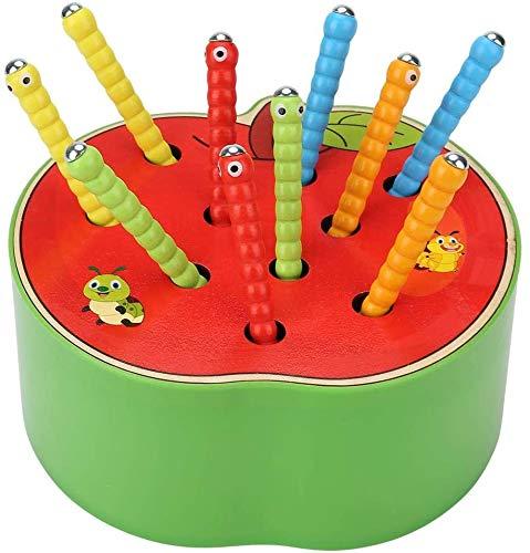 Afufu Kinderspielzeug ab 1 2 3 4 5 Jahren, Holz Montessori Spielzeug für Babys, Holzspielzeug Fangen...