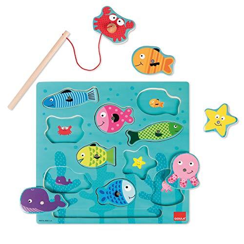 Jumbo Spiele - GOULA Magnetisches Angelspiel Holzspielzeug für Kleinkinder, Ab 2 Jahren