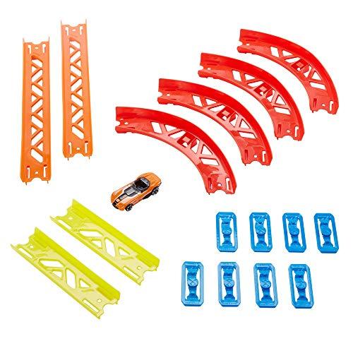 Hot Wheels GLC88 Track Builder Vielseitiges Kurven-Set Zubehörteile, Premium Kurven-Set für dynamische...