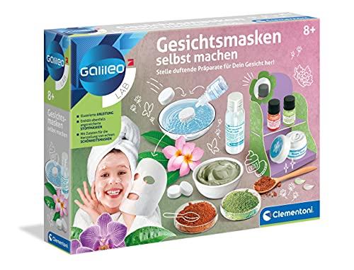 Clementoni 59248 Galileo Lab – Gesichtsmasken selbst machen, DIY Beauty Tuchmasken, duftende Stoffe zur...