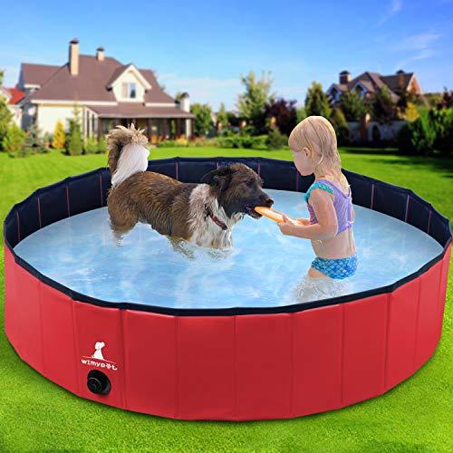 Wimypet Faltbarer Hundepool, Oxford-Wänden Hundebadewanne, PVC rutschfest Swimmingpool, Badewanne die...