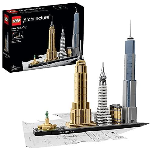 LEGO 21028 Architecture New York City, Skyline-Kollektion mit Freiheisstatue, Bausteine für Kinder und...