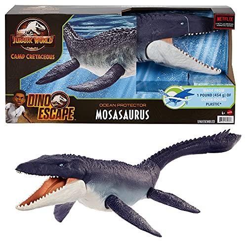 Jurassic World HCB04 - Schützer der Meere Mosasaurus-Dinosaurier-Actionfigur, ab 4 Jahren