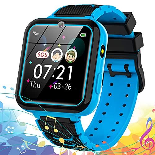 Vannico Kinder SmartWatch 16 Spiele- MP3 Musik, Kids Smart Watch Anruf Chat Telefon-SOS Taschenlampe...
