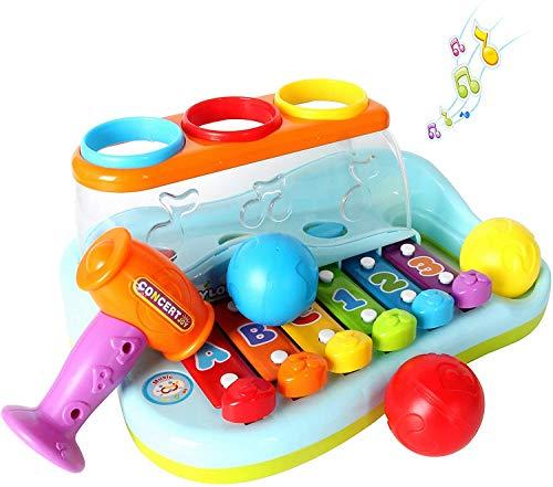 GoStock Musikspielzeug für 1-2-3 Jahre alte Babys Licht-Xylophon-Musikinstrument Spielzeug-Keyboard für...