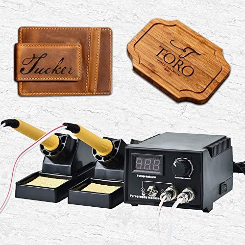 InLoveArts Pyrographie Maschine 60W 220V tragbar Brandmal-Kolben Set mit 20Pcs Brennspitzen für Handwerk...