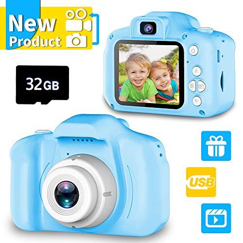Geschenk für 4-6 Jahre Mädchen Jungs YORKOO Kinder Kamera HD 1080P Digitalkamera für Kinder Silikon...