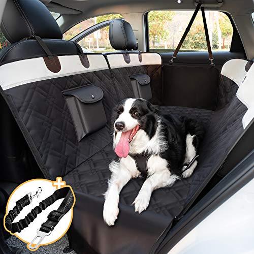 Toozey Hundedecke Auto Rückbank mit Seitenschutz, Teilbar wasserdichte Autoschondecke Hund Rücksitz mit...