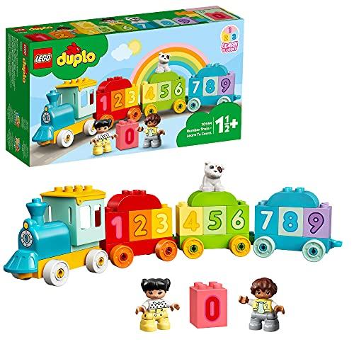 LEGO 10954 DUPLO Zahlenzug - Zählen Lernen, Zug Spielzeug, Lernspielzeug für Kinder ab 1, 5 Jahren,...
