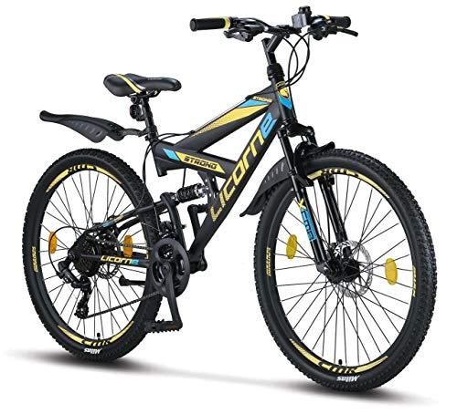 Licorne Bike Premium Mountainbike in 26 Zoll - Fahrrad für Jungen, Mädchen, Damen und Herren -...
