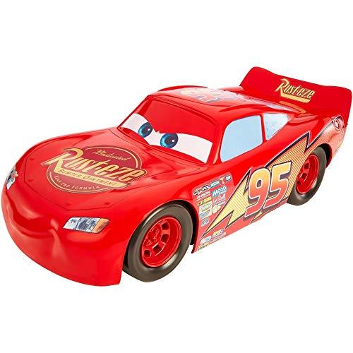 Mattel FBN52 Disney Cars Lightning McQueen Fahrzeug 50 cm, extra großes Auto, Spielzeug ab 3 Jahren