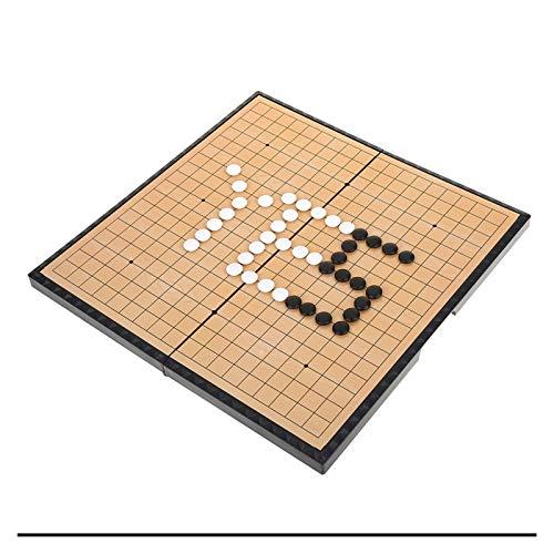 Zhice Retro-Stil Chinesisches Brettspiel Weiqi Checkers Falttisch Magnetspielzeug Geschenke