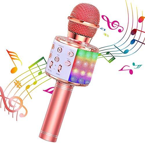 BlueFire Karaoke Mikrofon, Bluetooth Mikrofon Kinder, Tanzen LED Lichter Drahtlose Tragbares Microphon...