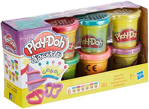 PlayDoh A5417EU9 A5417EU8 Glitzerknete für fantasievolles und kreatives Spielen, Multicolor