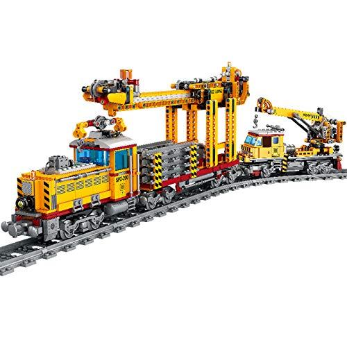 OATop 1270 + Teile City Güterzug Baustein Modell mit Schienen, City Zug mit Motor und LED...