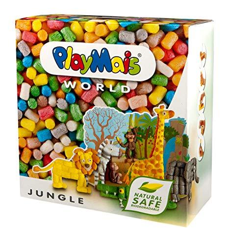 PlayMais World Jungle Bastel-Set für Kinder ab 3 Jahren | Circa 1000, Vorlagen & Anleitungen zum Basteln...