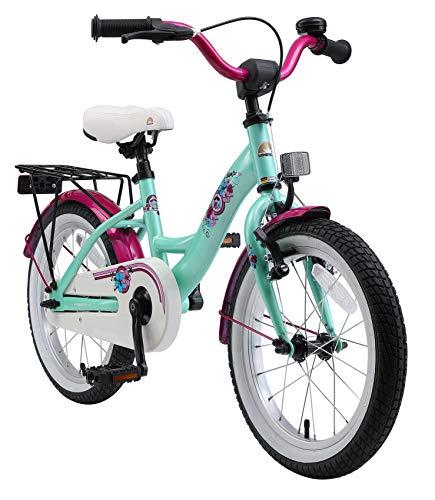BIKESTAR Kinderfahrrad für Mädchen ab 4-5 Jahre | 16 Zoll Kinderrad Classic | Fahrrad für Kinder Mint...