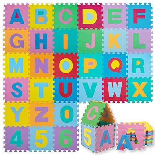 KIDIZ® Spielmatte 86 tlg. Spielteppich Puzzlematte Kinderteppich Schutzmatte Kinderspielteppich...