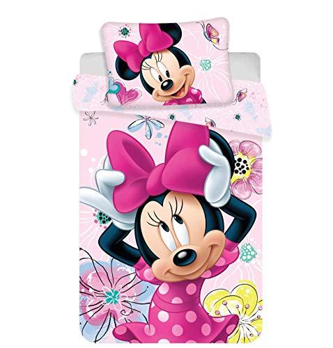 Disney Minnie Maus Baby-Bettset Butterfly Bettwäsche 100x135 cm Kopfkissen 40x60