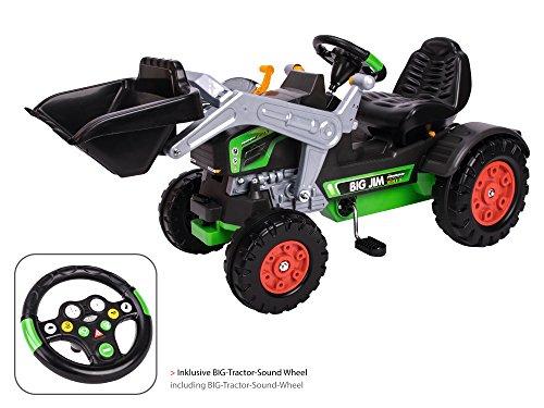 BIG Jim-Turbo Kinderfahrzeug Traktor Grün - Hochwertiger Trettraktor für Jungen und Mädchen ab 3...