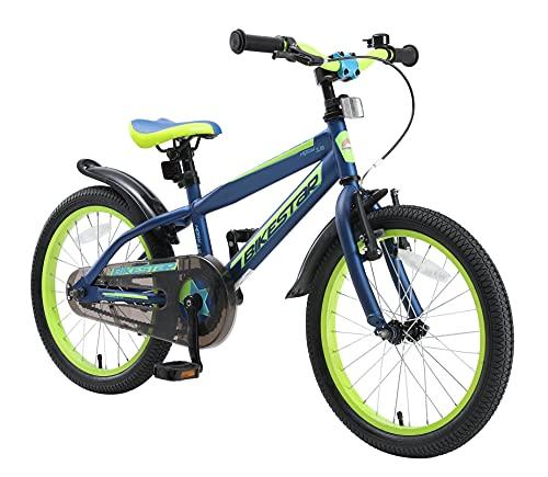 BIKESTAR Kinderfahrrad 18 Zoll für Mädchen und Jungen ab 5 Jahre | Kinderrad Urban Jungle | Fahrrad...