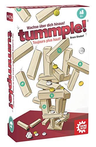 Game Factory 646183 tummple!, strategisches Stapelspiel für Kinder und Erwachsene, wachse über dich...