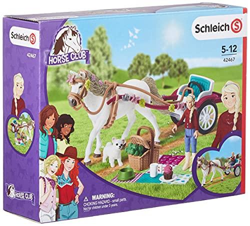 Schleich 42467 Horse Club Spielset - Kutsche für Pferdeshow, Spielzeug ab 5 Jahren